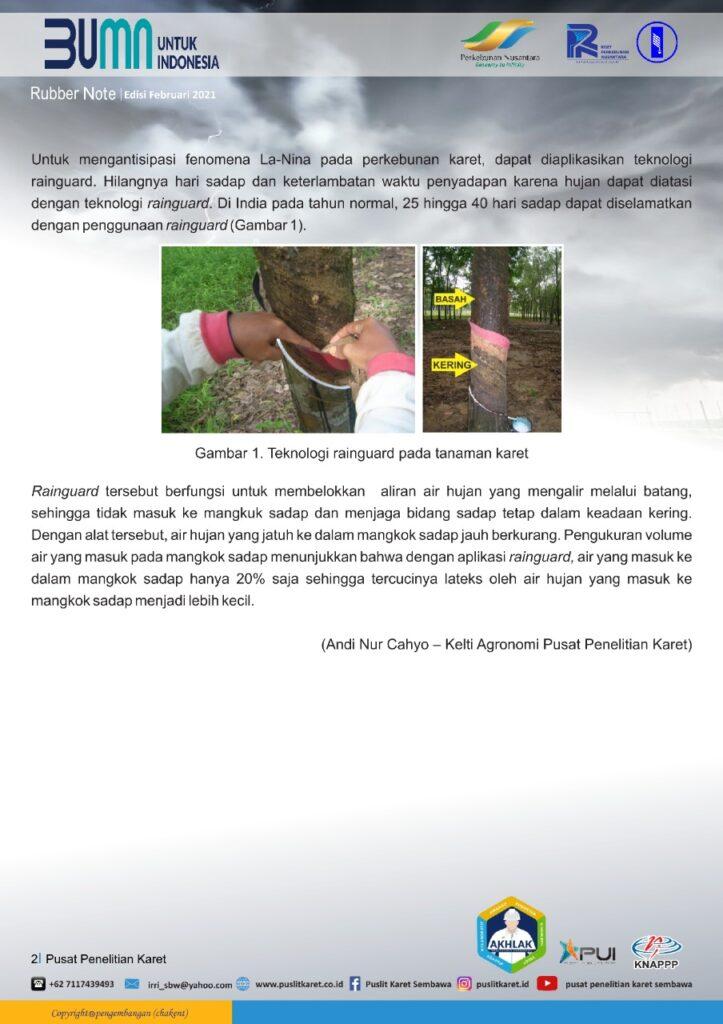 Penggunaan Rainguard